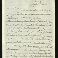Letter from the Duke of Clarence to J.W. Daniell, written in Teinach