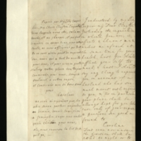 Letter [in French] from the Princess of Wales to Mrs. Clayton [GEO/ADD/28/092], expressing concern at the report of her health received via Lady Cooper, telling her not to come, assuring her that her place would be kept for her and exhorting her to look after herself, and requesting that she commission Geminghen to choose for her for the division; with transcription in French and English translation [GEO/ADD/28/025].