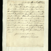 Letter from Adolphus, Duke of Cambridge to Sophia FitzClarence, written at Cambridge House