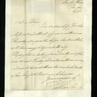 Letter from William, Duke of Clarence, to John Bourke, 4th Earl of Mayo, written at Bushy House