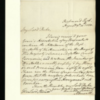 Letter from Lord Sidmouth to Duke of Buckingham, written at Richmond Park