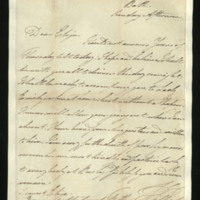 Letter from William, Duke of Clarence to Elizabeth FitzClarence, written at Bath