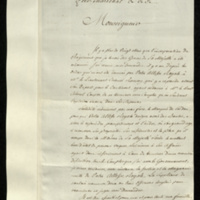 Copy letter from Col. Comte Joseph Delatour to the Duke of York asking him to expedite the settlement of his claims so that he can go to the aid of  his brother, the Marquis de Cordon, who needs help in reclaiming his lands (enclosure).