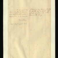 Letter [in French] from Queen Caroline to Mrs. Clayton [GEO/ADD/28/125], asking her to write and report what happens 'in the house' that day; with transcription in French and English translation [GEO/ADD/28/063].