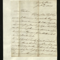 Letter from William, Duke of Clarence to Lady Mayo, written at Bushy House