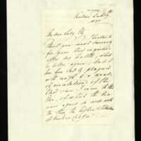 Letter from Queen Adelaide to Lady Ely, written at Pavilion [Brighton?]