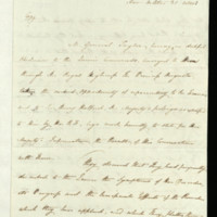 Letter from Major General Taylor to Queen Charlotte