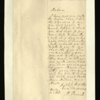 Letter from Margaret Purcell to Mrs. Clayton [GEO/ADD/28/144] reporting that she had told the Queen of Mrs Clayton's improved health and her hope to 'Pay... Duty' shortly, and conveying the Queen's command that she should not do so until she is sure her illness is over; with transcription by Mrs Clayton [GEO/ADD/28/028].