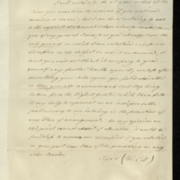 Copy letter from William Pitt to Henry Addington responding to 0860d, expressing himself so firmly decided on the matter previously discussed [his possible return to office? - see 0860f] that there would be no point in further consultation.