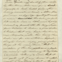 Letter from Princess Mary to Lady Charlotte Finch