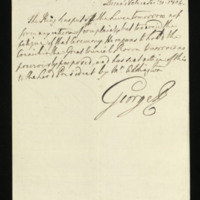 Letter from George III to Charles Yorke