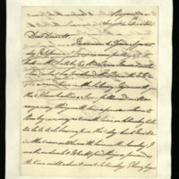 Letter from William, Duke of Clarence to J.W. Daniell, written at Bognor