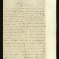 Letter from the Princess of Orange to Mrs Clayton [GEO/ADD/28/149], expressing her concern that Dr Duglas [sic] should not lose good opinion since he had always doubted 'about ye condition I was suppos'd to be in' and asking Mrs Clayton to say as much to any detractors, her satisfaction with Dives and her wish not to part with her, and her hope to see Mrs and Mr Clayton if she goes to England in the summer; with English transcription [GEO/ADD/28/021a and 065 (part 2)].