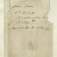 Note by Gen. Jacob de Budé identifying the authors of the copy letters, and the dates covered.