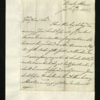 Letter from William, Duke of Clarence to John Bourke, 4th Earl of Mayo written at Bushy House