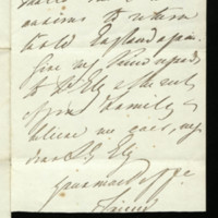 Fragment of letter from Queen Adelaide to Lady Ely
