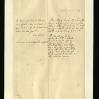 Letter [in French] from Queen Caroline to Mrs. Clayton [GEO/ADD/28/120], reporting that the King had spoken, but guardedly, and recommending that 'the freind' [sic] be also on his guard to avoid being suspected; with transcription in French and English translation [GEO/ADD/28/064].