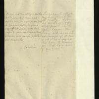 Letter [in French] from the Princess of Wales to Mrs. Clayton [GEO/ADD/28/082], thanking her for reporting on 'what pass'd in the lower house', noting that the Prince [presumably of Wales] 'will make his advantage of it', and promising to provide more news tomorrow; with transcription in French and English translation [GEO/ADD/28/033a].