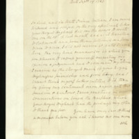 Letter from Lord Hood to Prince William, written at Bath