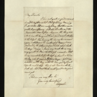 Letter from Princess Augusta to Sir Henry Halford on the King being read to, and the King's nerves following the fall of a candlestick