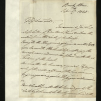Letter from William, Duke of Clarence to John Bourke, 4th Earl of Mayo , written at Bushy House