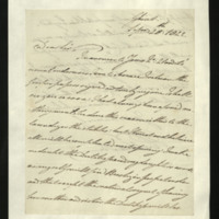 Letter from the Duke of Clarence to J.W. Daniell, written in Ghent