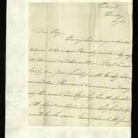 Letter from William, Duke of Clarence to John Bourke, 4th Earl of Mayo