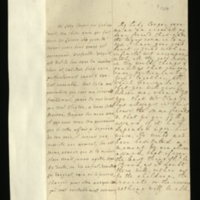 Letter [in French] from the Princess of Wales to Mrs. Clayton [GEO/ADD/28/093], praising her virtues, assuring her that Mr Clayton 'has allways [sic] in this house the same freinds [sic]' and that she and the Prince [of Wales, presumably] are certain that if anything were 'stirr'd' with regard to the children, the servants or revenue, Mr Clayton would support them, asking Mrs Clayton not to 'torment your self any more', and expressing concern at her health; with transcription in French and English translation [GEO/ADD/28/040].