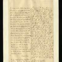 Letter [in French] from the Princess of Wales to Mrs. Clayton [GEO/ADD/28/102], reporting that Lady Barnard's daughter would be received 'very agreably & presented on the Prince's birthday', expressing her great satisfaction with Lady Pomfret and the approval of the family, and noting that 'I remember allways [sic] good & honest Mr Clayton'; with transcription in French and English translation [GEO/ADD/28/061].