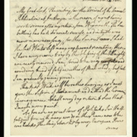 Letter from George III to [the Bishop of Worcester]