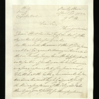 Letter from William, Duke of Clarence to Sir William Knighton, written at Bushy House, regarding the health of George IV