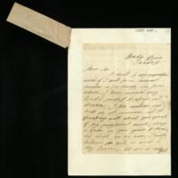 Letter from Mrs Jordan, written at Bushy House