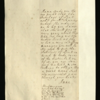 Letter from Anne, Princess Royal to Mrs Clayton [GEO/ADD/28/147], forwarding from the Queen £100, which had been requested by the Duchess of Kent for Mr Saurin's [?] widow, reporting the Queen's decision to pay this annually at around the same time for the duration of the widow's life, and asking Mrs Clayton to ask the Duchess to take charge of the payment's distribution 'As she [the Queen?] is but a very indifferent menager [sic]'; with transcription [GEO/ADD/28/042].
