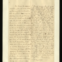 Letter [in French] from the Princess of Wales to Mrs. Clayton [GEO/ADD/28/110], reporting Princess Amelia's increasingly poor health, the treatment she is receiving [from Dr. Stegerthal] and the Princess of Wales's suspension of treatment until Mrs Clayton has received the advice of 'our Esculapius' [presumably Dr Freind]; with transcription in French and English translation [GEO/ADD/28/005].