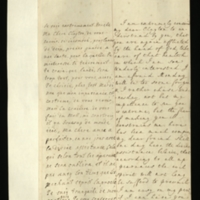 Letter [in French] from the Princess of Wales to Mrs. Clayton [GEO/ADD/28/119], expressing concern that she is again ill, suggesting that she should not come in until Wednesday as a result, commenting that 'my dear freind [sic] shall one day have the divine assistance... the evil spirit will not long be sufferd [sic] to prevail', and remarking 'I shall be to the last moment of my life wholly yours'; with transcription in French and English translation [GEO/ADD/28/026] .