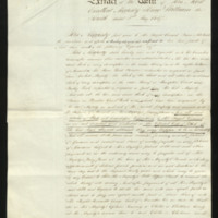 Extract of will of William IV