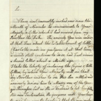 Letter from Queen Charlotte to George III