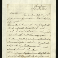 Letter from the Duke of Clarence to J.W. Daniell, written in Ludwigsburg [?]