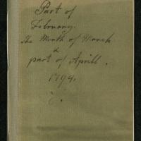 """Diary for """"Part of February The Month of March & part of Aprill 1794"""""""