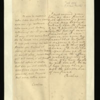 Letter [in French] from the Princess of Wales to Mrs. Clayton [GEO/ADD/28/107], expressing delight at Mrs Clayton's letter, acknowledging her and the Prince's appreciation of 'your freind' [Mr Clayton?], confirming that Walpole has not entered in to 'that ugly scheme' and that he is furious with 'those who have bought', and that 'we will doe [sic] all we can'; with transcription in French and English translation [GEO/ADD/28/057].