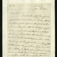 Letter from the Duke of Clarence to J.W. Daniell, written in Walmer