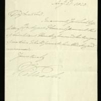 Letter from William, Duke of Clarence, written at Bushy House, regarding Lieutenant Munday