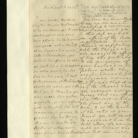 Letter [in French] from the Princess of Wales to Mrs. Clayton [GEO/ADD/28/074], informing her of negotiations in connection with Mr Clayton's succession to his father's estate and advising her to 'take your measures', and commenting also on 'a marriage with an heiress, who has but one brother'; with transcription in French and English translation [GEO/ADD/28/044].