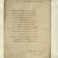Verses on the birth of the Crown Prince of Piedmont: 'Per la nascita del Real Principe di Piemonte'.