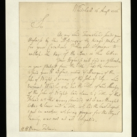 Letter from George Tilson to Prince Frederick