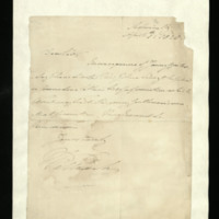 Letter from William, Duke of Clarence, written from the Admiralty