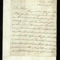 Letter from William, Duke of Clarence to John Bourke, 4th Earl of Mayo, written at Dover Castle
