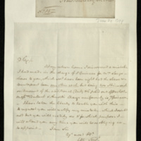 Letter from J.S. Clamtree to General Jacob de Budé readjusting the charge mistakenly initially made by Messrs Bullock & Arnold for Mrs Long's lease and requesting reparation.