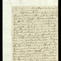 Letter from [?Lord Gower] to Mrs Howe