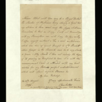 Letter from Queen Charlotte to the Duchess of Leeds